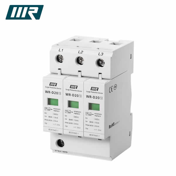 WR-D20 10/20kA RJ11 Lightning SPD Ethernet