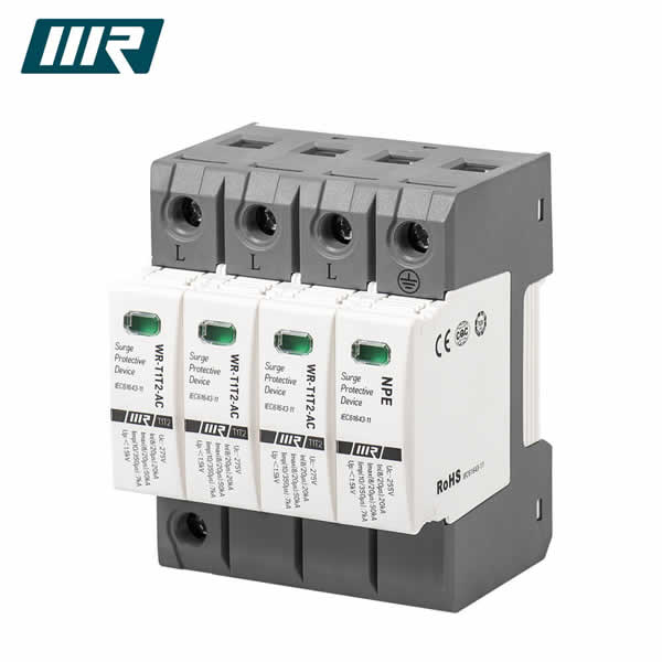 WRDZ 3P+NPE PV Surge Protection 275V Lightning Protector